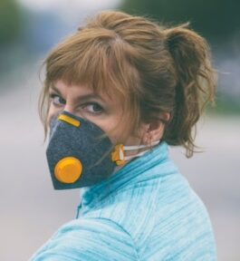 Maska do biegania antysmogowa
